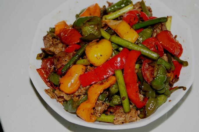 彩りスタミナ野菜炒め20130703