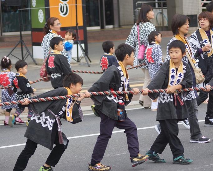 川越祭り  山車 少年 20131019A