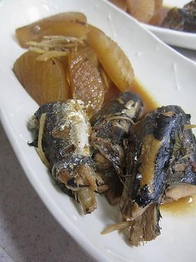 20131017 さんまと大根の生姜煮