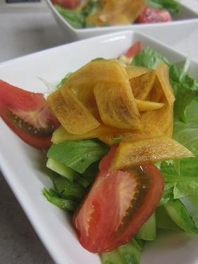 20131027 柿サラダ