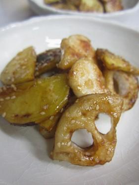 20131120 根菜と鶏肉の酢豚風