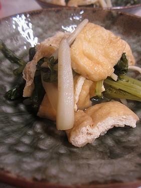 20131125 大根葉と油揚げ煮