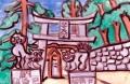 1無動寺谷地域白蛇出現の霊地弁天堂