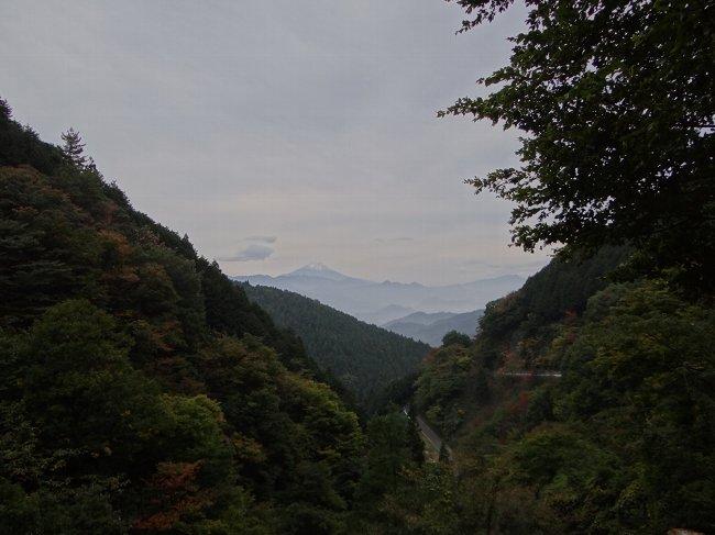 a 朝 峠道からの富士
