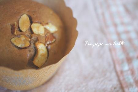 ココアバナナナッツマフィン