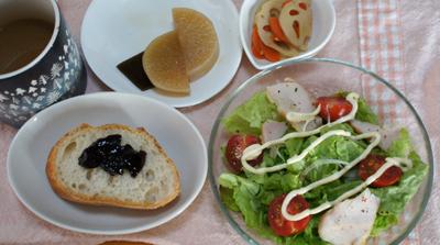 煮物と朝ごパン