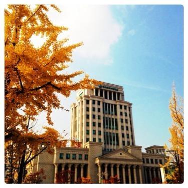2013年秋の韓国外国語大学。