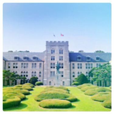 高麗大学のキャンパスは素敵です。