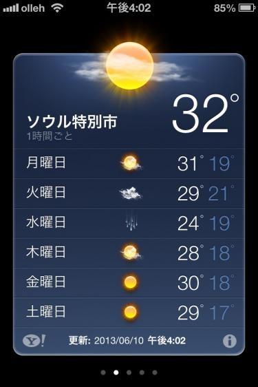 2013.6.10の気温