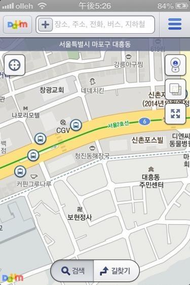 地図はもちろん、バス停の場所もわかります