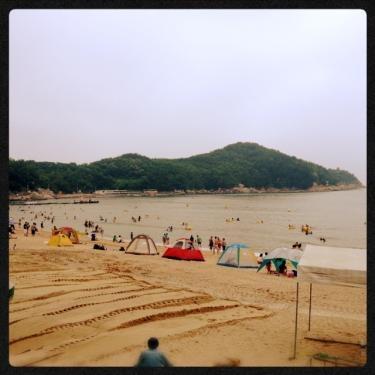 韓国に来て初の海☆