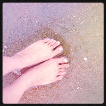 韓国での浜下り。笑