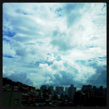梅雨の中休み。久々にみた入道雲