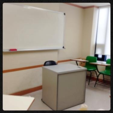 久々学校の教室での授業