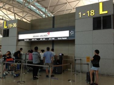 12番出口はアシアナ航空カウンターの近くです