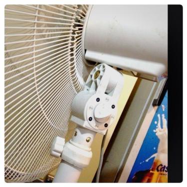 韓国の扇風機。何故か強と弱しかない笑。中が欲しいんだけどな笑