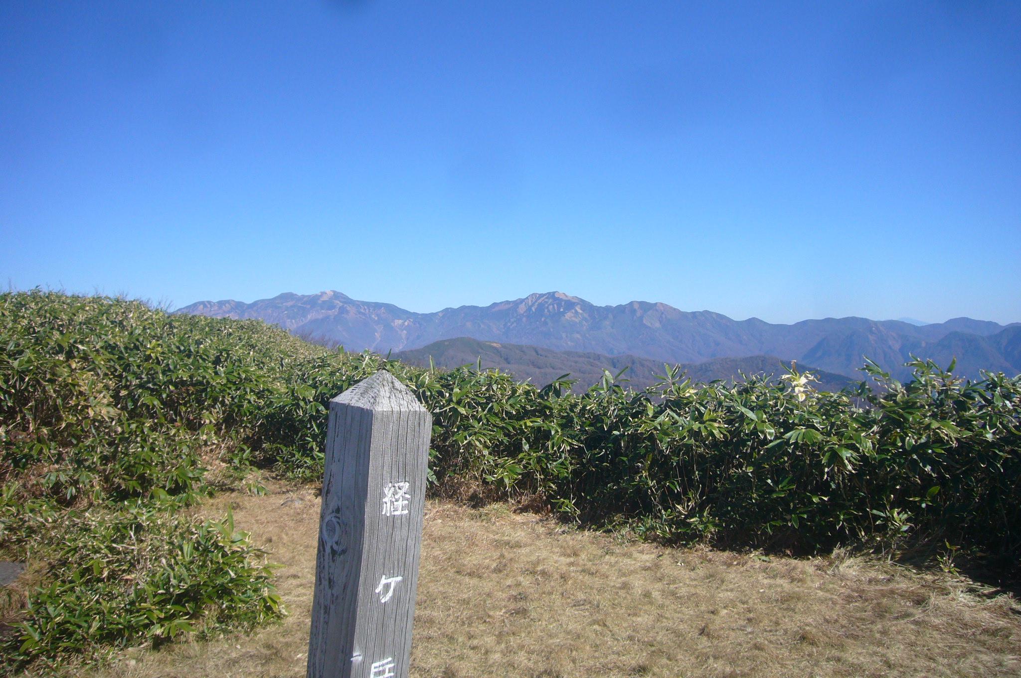 経ヶ岳より白山 H26.10.29撮影