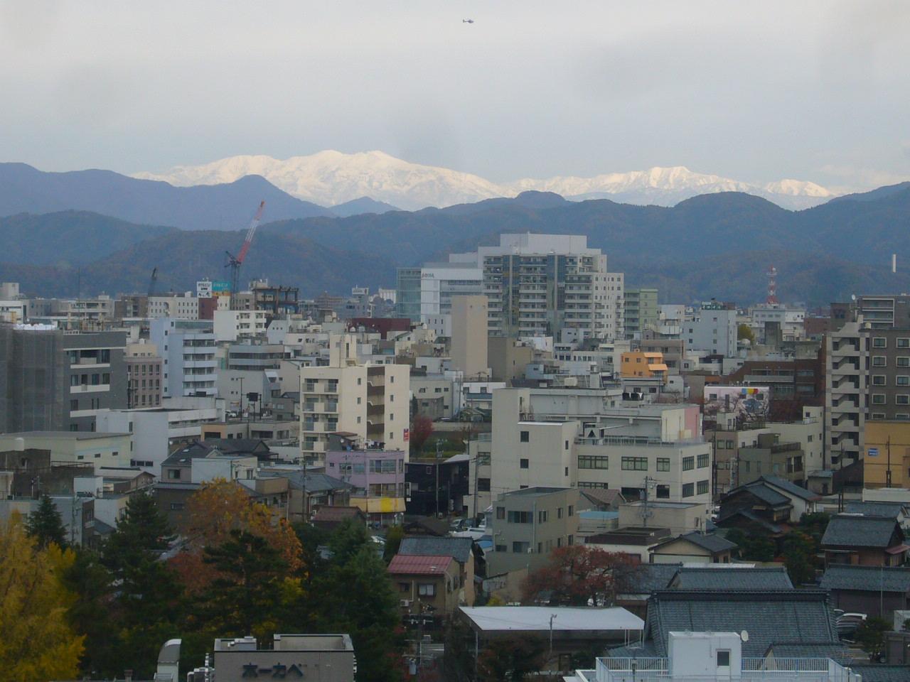 足羽山から白山 H26.11.20撮影