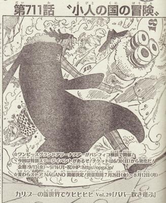 2013年ジャンプ29号 ワンピース扉絵