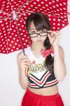AKB48 峯岸みなみ セクシー チアガール コスプレ メガネ おへそ 傘 高画質エロかわいい画像28
