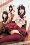 SKE48 松村香織 セクシー ロリータ ミニスカート 太もも チラリズム コスプレ カメラ目線 誘惑 高画質エロかわいい画像7