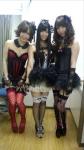 AKB48 大家志津香 倉持明日香 佐藤夏希 セクシー ランジェリー姿下着 網タイツ おっぱいの谷間 カメラ目線 高画質エロかわいい画像2
