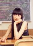 栗山千明 セクシー 頬杖 顔アップ 教室 女優 超高画質エロかわいい画像31