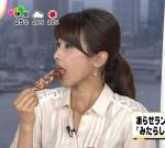 加藤綾子 セクシー 食事顔 口開け 舌 顔アップ 地上波キャプチャー フジテレビ みたらし団子 高画質エロかわいい画像32