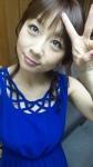 田代さやか セクシー 青ドレス ピース 顔アップ カメラ目線 上目遣い 高画質エロかわいい画像6
