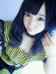SKE48 柴田阿弥 セクシー 胸チラ おっぱいの谷間 衣装 顔アップ アヒル口 自撮り 高画質エロかわいい画像6