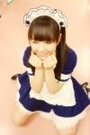 HKT48 村重杏奈 セクシー メイド コスプレ 女の子座り ぶりっ子ポーズ 高画質エロかわいい画像3