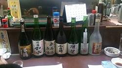 日本酒の数々