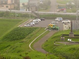 上から見た駐車場