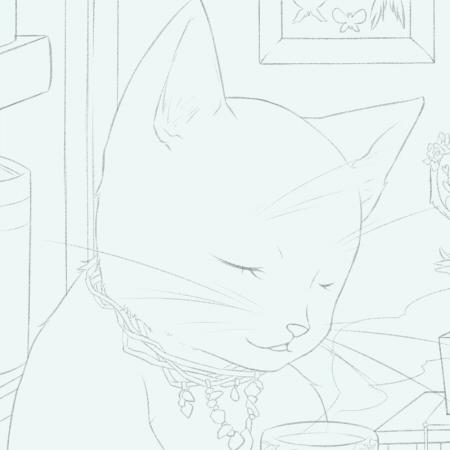 猫+紅茶+本とちゅう
