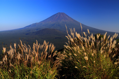 精進湖パノラマ台から望む霊峰富士