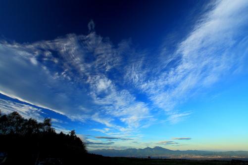 雲の映える浅間山