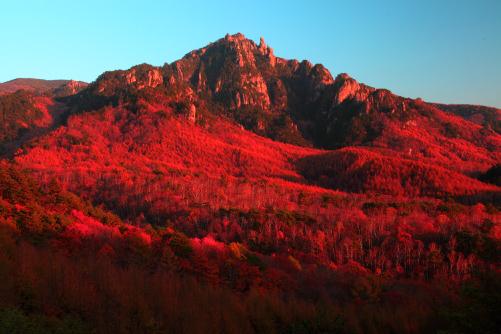 ミズガキ山夕景