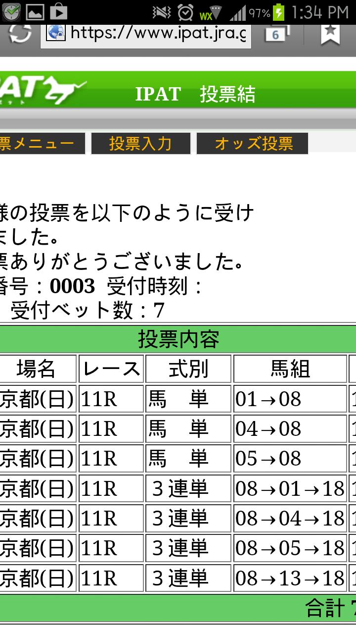 13年 天皇賞