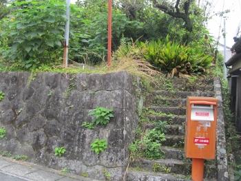 長篠駅前のポスト