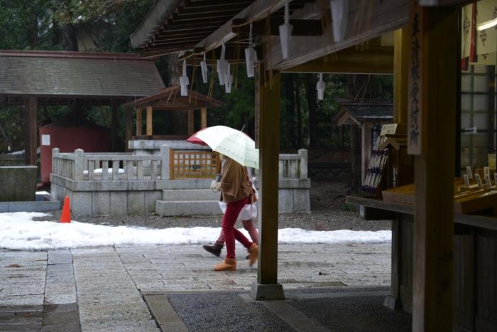 雨の神社-3