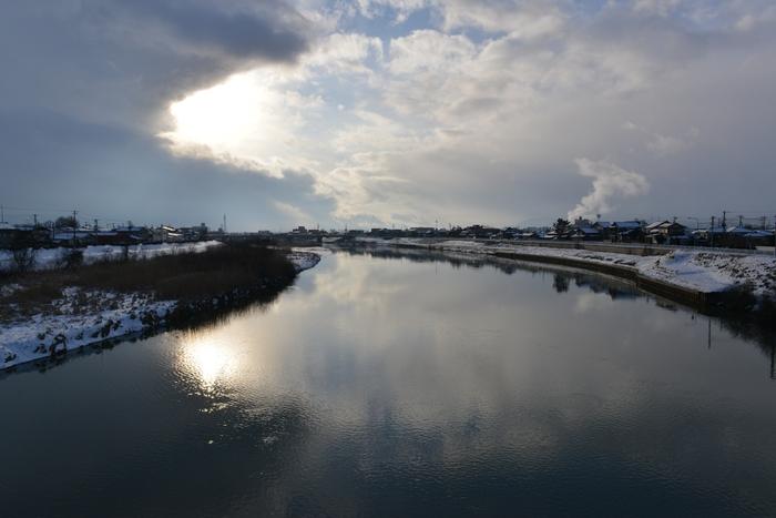 冬の川-1