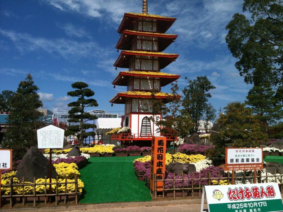 武生菊人形5重の塔