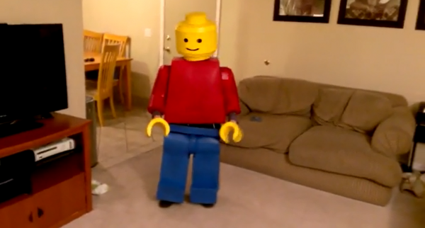 Homemade LEGO Guy Halloween Costume