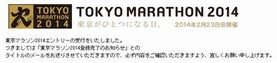 東京マラソン エントリー
