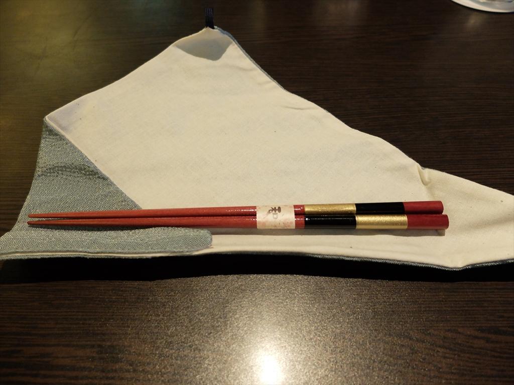 持ち帰り用のお箸とお箸袋