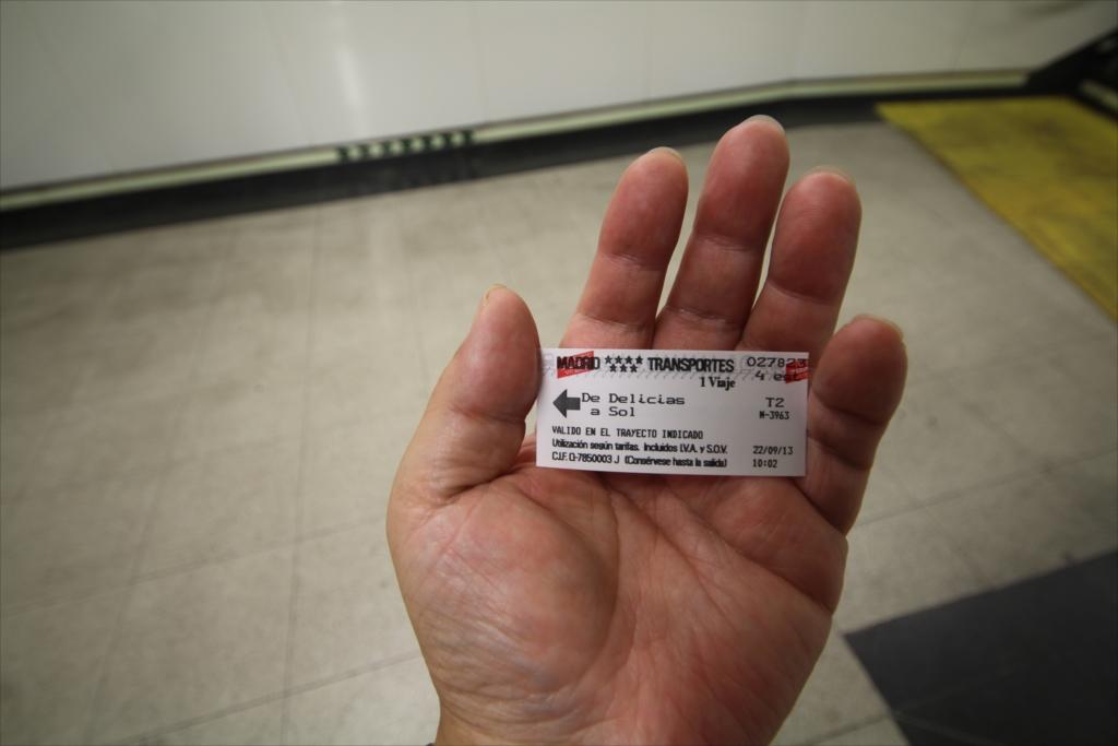 メトロの乗車券