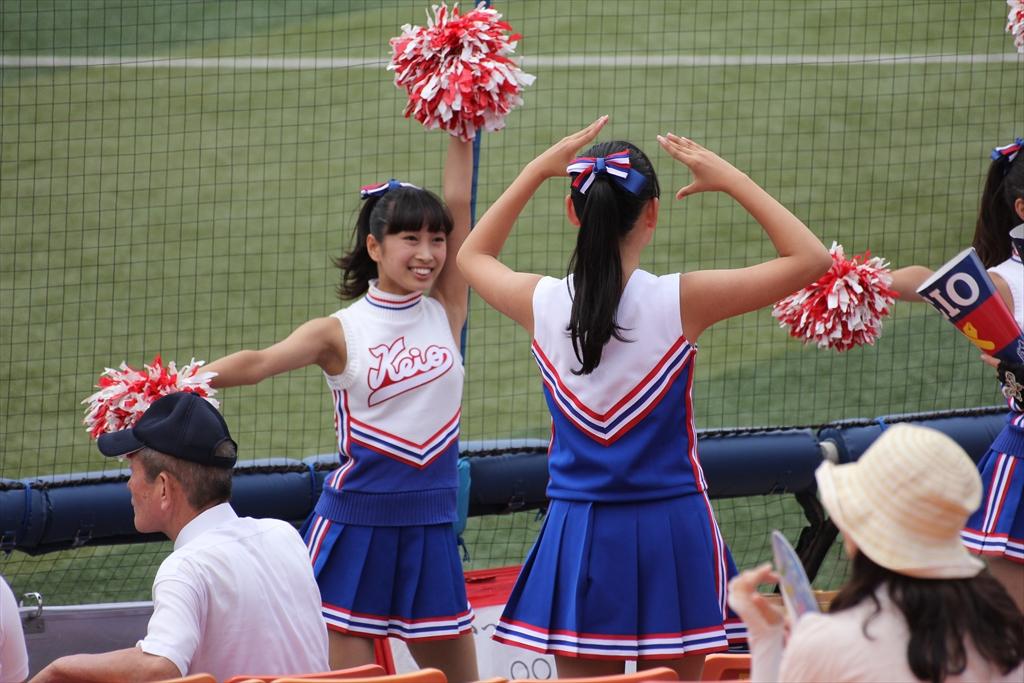 慶應義塾女子高校のチアリーディング_2
