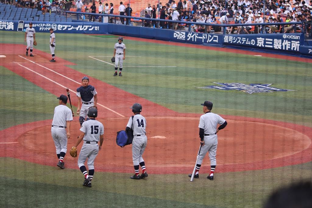 横浜の試合前練習_2