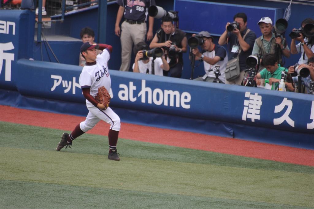 松井の投球練習