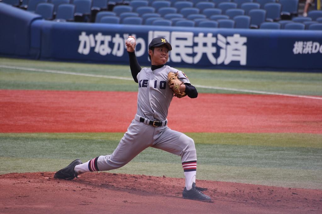 慶応先発高橋の投球フォーム_3